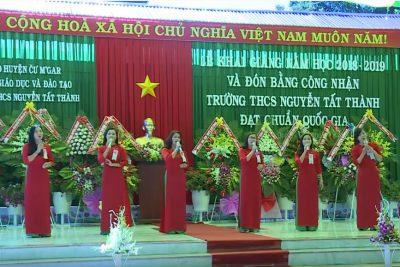 Video: Lễ khai giảng và đón trường chuẩn quốc gia trường THCS Nguyễn Tất Thành Cư M'gar Đăk Lăk 2018 – 2019