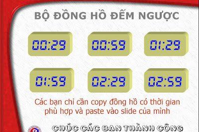 Mẫu bộ đồng hồ đếm ngược thời gian trên PowerPoint