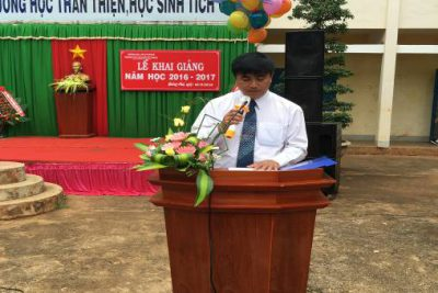 Trường THCS Nguyễn Tất Thành tổ chức Lễ khai giảng năm học 2016-2017