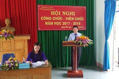 Trường THCS Nguyễn Tất Thành – Cư Mga tổ chức Hội nghị CBCNVC năm học 2017 – 2018
